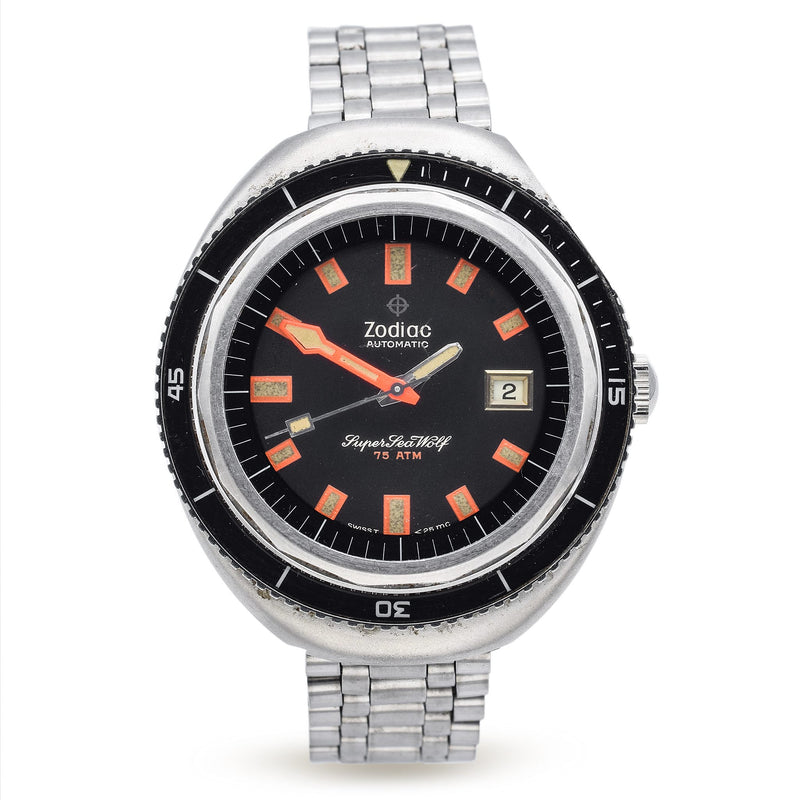 Vintage Zodiac Super Sea Wolf Watch Automatic 75 ATM