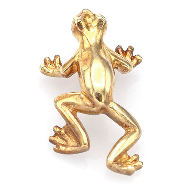 Vintage 14K Yellow Gold Toad Frog Charm Pendant