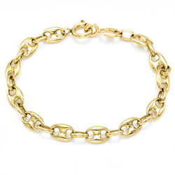 18K Yellow Gold Gucci Link Bracelet 8.5 Grams 5.75 Inches