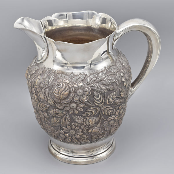 S. Kirk & Sons Sterling Silver Hand-Chased Repousse Water Pitcher