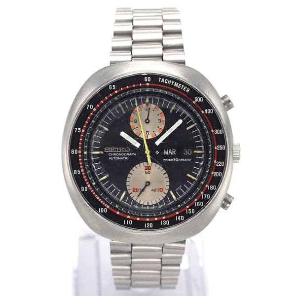 Vintage Seiko 6138-0011 UFO Chronograph Men's Automatic Day Date Watch 44 mm