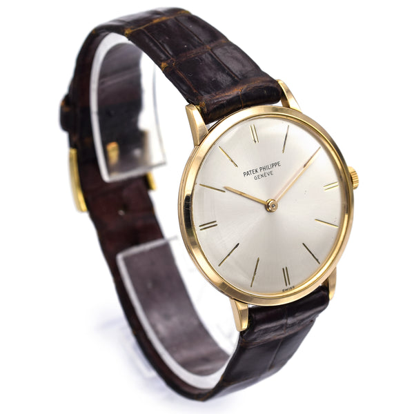 Patek Philippe Calatrava 18K Gold Cal. 23-300 Manual Wind Men's Watch Ref 3468