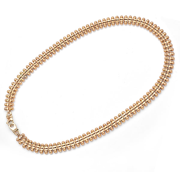 Vintage 14K Yellow Gold Wide Link Chain Necklace