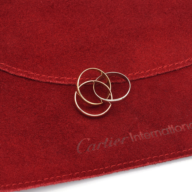 Cartier 18K Tricolor Gold Trinity 2.5 mm Band Ring + Pouch