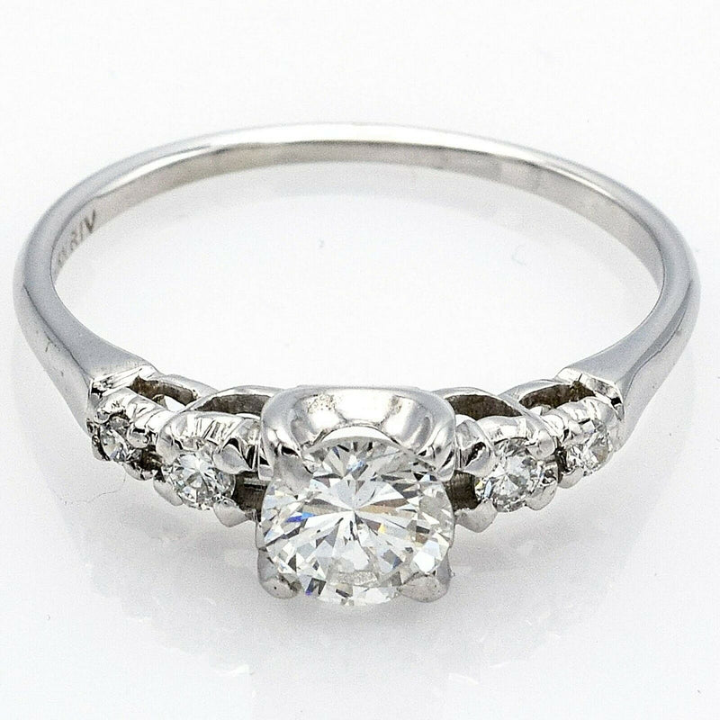 Estate 18K White Gold Diamond Band Ring