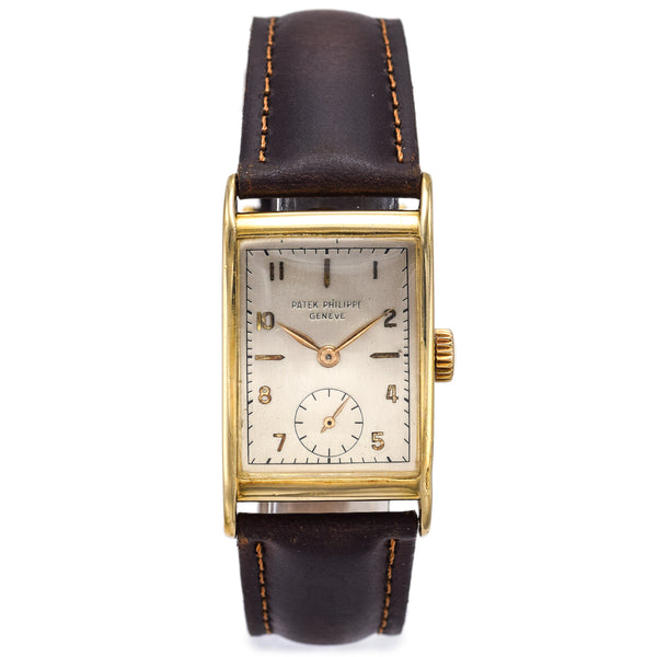 Patek Philippe Geneve 18K Gold Cal 9-90 Hand Wind Mens Watch Ref 1560/1 +Booklet