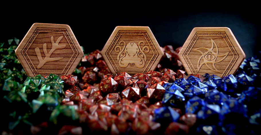 Premium Wooden Elder Dice Chests