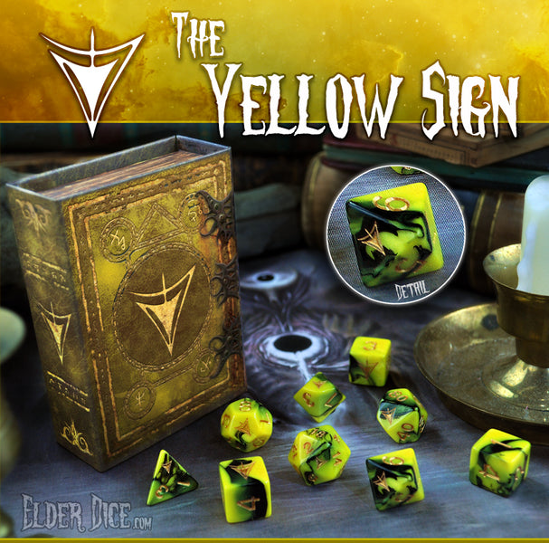 Yellow Sign Prototype Elder Dice Giveaway