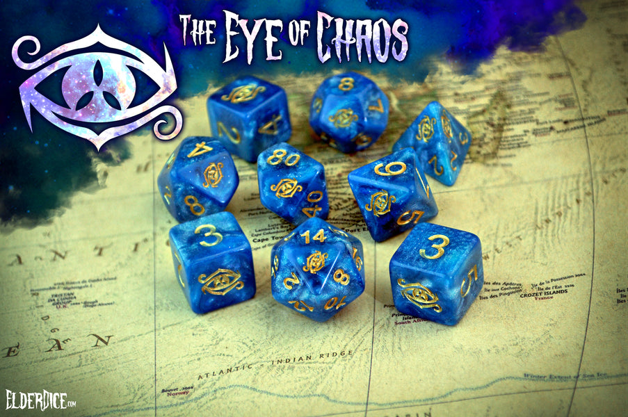 "Win a Prototype Set of the ""Eye of Chaos"" Elder Dice"