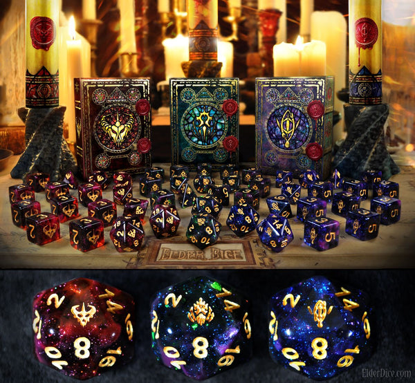 Elder Dice: Shards of Illumination dice preview