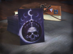 Playing card sleeves with Alhazred the author of the Necronomicon