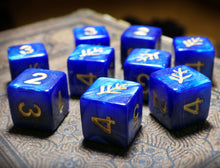the blue elder sign dice d6 set