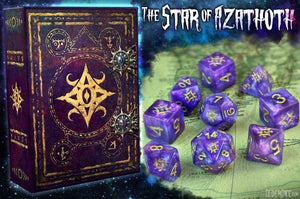The Star of Azathoth polyhedral dice set