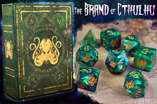 The Brand of Cthulhu polyhedral dice set