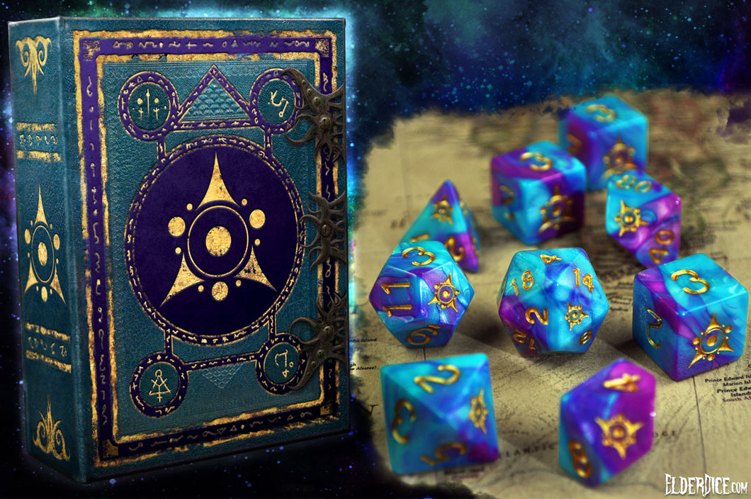 Kadathian Ice - Sigil of the Dreamlands polyhedral set