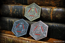 The Seal of Yog-Sothoth coins in gold, silver, and copper