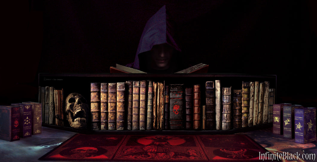 5e combat screen with books of the Miskatonic library