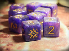 The star of azathoth d6 dice set nebula edition