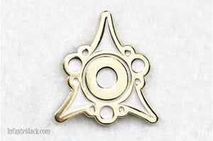 Sigil of the Dreamlands Pin - Gold and White Enamel