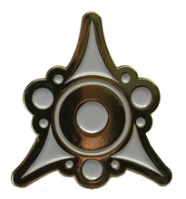 gold and white Sigil of the Dreamlands collectible pin