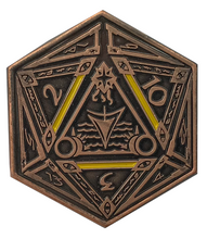 Elder Dice Yellow Sign D2 Coin