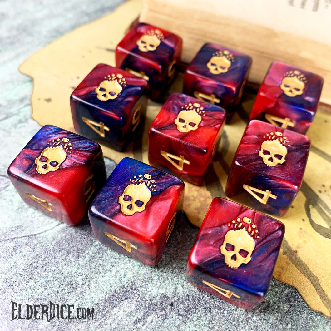 Mark of the Necronomicon Elder Dice d6 set Blood and Magick edition