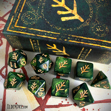 Lovecraft Elder Sign Green Polyhedral Dice