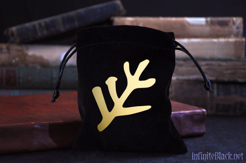 Black Velvet Dice Bag - The Elder Sign