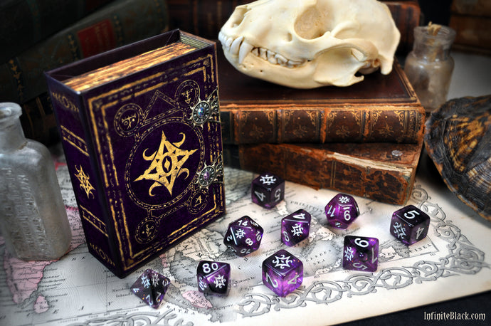 Interstellar special edition Star of Azathoth polyhedral Elder Dice set