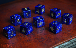 Elder Dice - Tube of Blue Star d6 Dice