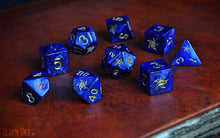 Elder Dice - Blue Star Elder Sign Polyhedral Set