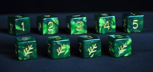 Green Elder Sign d6 set
