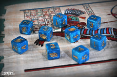 Nebula blue Eye of Chaos d6 dice set