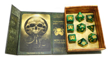 Green Polyhedral Cthulhu Elder Dice set