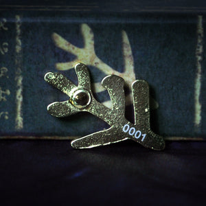 Back of Elder Sign gold pin