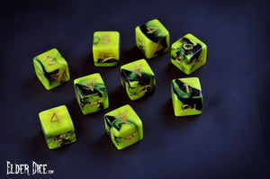 Elder Dice - Tube of Yellow Sign d6 Dice