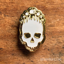 Mark of the Necronomicon Pin - Gold and White Enamel