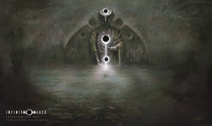 """White Night, Black Stars, Dim Carcosa"" Premium Playmat"