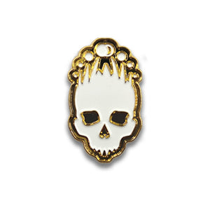 Gold and white Necronomicon collectible pin