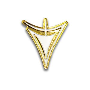 Gold and white Yellow Sign collectible Pin