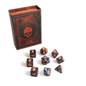 Red and Blue Mark of the Necronomicon Elder Dice