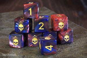 Mark of the Necronomicon Dice - Blood and Magick d6 Set