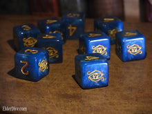 blue Eye of Chaos d6 Elder Dice set