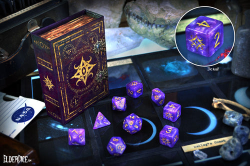 Star of Azathoth polyhedral dice set Nebula edition