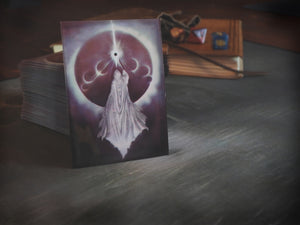 "Playing card sleeves with art ""Yog-Sothoth Knows the Gate"" by David LaRocca"