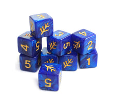 blue d6 Elder Sign dice