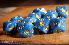 Eye of Chaos blue dice d10 set