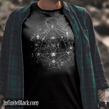 Geometric d20 Shirt - Cotton Screen Print T-Shirt