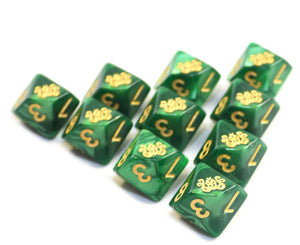 Green Cthulhu D10 Dice set