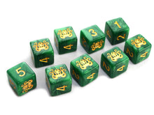 Green Cthulhu d6 Elder Dice set